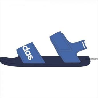 [adidas]アディダス ジュニアサンダル ADILETTE SANDAL K (G26878) トゥルーブルーS19/ランニングホワイト/ダークブルー[取寄商品]