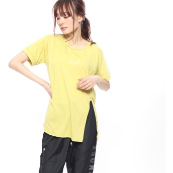 イグニオ IGNIO レディース 半袖Tシャツ フロントスリットTシャツ(半袖) LTRPUフロントリボンSS