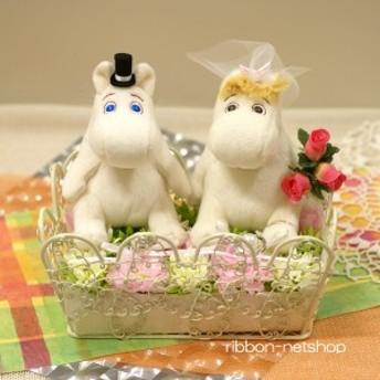 結婚式●ブライダル●『ムーミン』ウェディング ムーミン&フローレンのシルクフラワーリングピロー FL-WG-485
