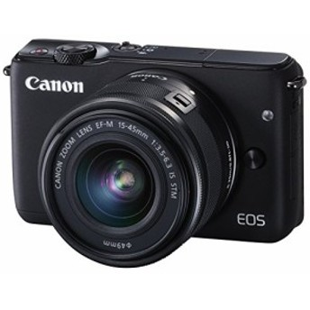 Canon ミラーレス一眼カメラ EOS M10 レンズキット(ブラック) EF-M15-45mm (中古品)