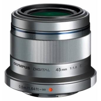 OLYMPUS 単焦点レンズ M.ZUIKO DIGITAL 45mm F1.8 シルバー(中古品)