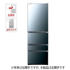 (標準設置 送料無料) 東芝 465L 5ドア冷蔵庫(クリアミラー)(左開き) TOSHIBA GR-R470GWL-XK 返品種別A
