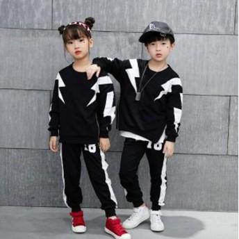 韓国子供服 ダンス 衣装 ヒップホップ 上下セット スウェット 男女兼用 JAZZ DANCE ダンスウェア120/130/140/150/160/170/180cm