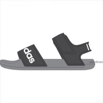 [adidas]アディダス ジュニアサンダル ADILETTE SANDAL K (G26877) グレーシックスS19/ランニングホワイト/グレースリーF17[取寄商品]
