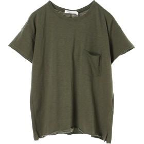rag & bone VINTAGE CREW WITH POCKET ウォッシャブル Tシャツ・カットソー,カーキ
