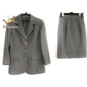 49アベニュージュンコシマダ スカートスーツ サイズ9 M レディース 美品 ライトグレー     スペシャル特価 20190723