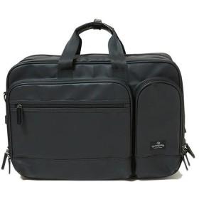 マジェスティックミル(MAJESTIC MIL) ブリーフケース 3WAY-WIDE/L ブラック MMB0009 ビジネスバッグ リュック バックパック 手提げ バッグ 鞄