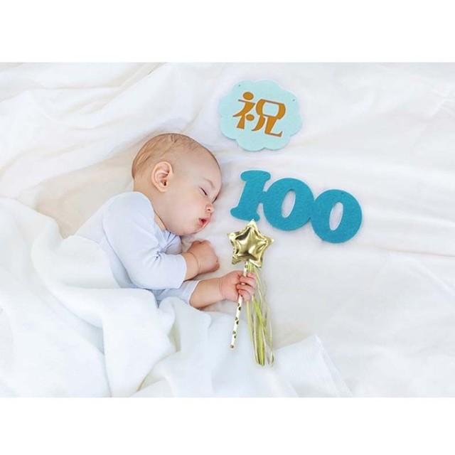 メモリコ100デイズ ブルー お祝いイベント メモリアル・パーティグッズ パーティーグッズ (89)