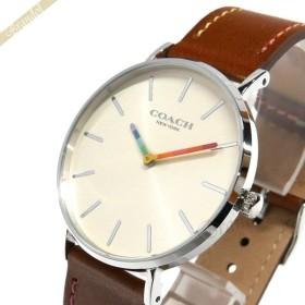 c64e8975ad34 コーチ COACH レディース腕時計 Perry ペリー マルチカラー 36mm クリーム×ブラウン 14503032 [在庫品