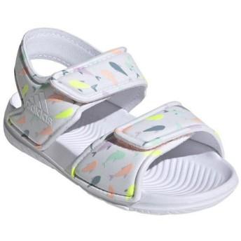 [adidas]アディダス ジュニアサンダル ALTASWIM I (F34793) ランニングホワイト/クリアオレンジ F18/ハイレゾイエローS19[取寄商品]