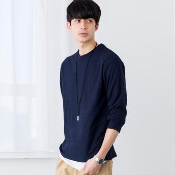 Tシャツ - WEGO【MEN】 【3点セット】アクセ付きアンサンブルジャガードT JS18SP12-M004