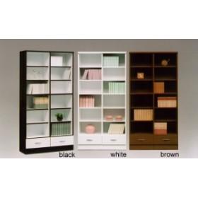 国産 90オープン書棚/ビッグ 選べる3色 引出し付き 可動棚で色んな用途に対応 ブックシェルフ