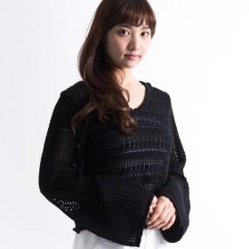 ニット・セーター - WEGO【WOMEN】 クロップドクロシェニット DI17SP03-L013