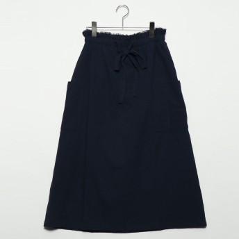 スタイルブロック STYLEBLOCK 綿ボイルドロストスカート (ネイビー)