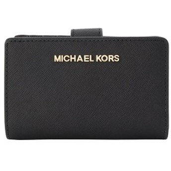 【セール】マイケルコース 財布 レディース 二つ折り M.MICHAEL KORS L字ファスナー 35f7gtvf2l-black 人気 ミニ財布 革 かわいい 可愛い