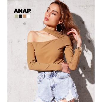 【セール開催中】ANAP(アナップ)オープンショルダータイトロンT