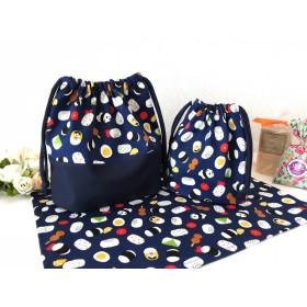 おにぎりとパンダさんの可愛いランチセット(^^)ネイビー☆お弁当袋☆コップ袋☆ランチョンマット☆のセット 男の子