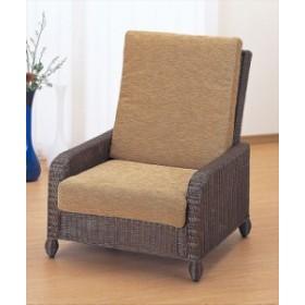 アームチェアー Y-115B ブラウン 籐 籐家具 座椅子 椅子 イス アジアンリビングルーム籐 ラタン