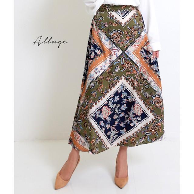 【セール開催中】ANAP(アナップ)スカーフ柄プリントフレアスカート
