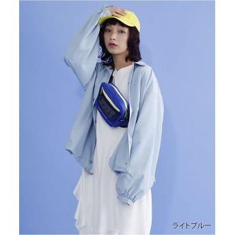 【15%OFF】 メルロー ドロスト裾コーチジャケット レディース ライトブルー FREE 【merlot】 【セール開催中】
