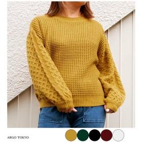 ニット・セーター - argo-tokyo 【ARGO TOKYO 】ワッフルニット ワッフル セーター ニット トップス ニットトップス 韓国ファッション