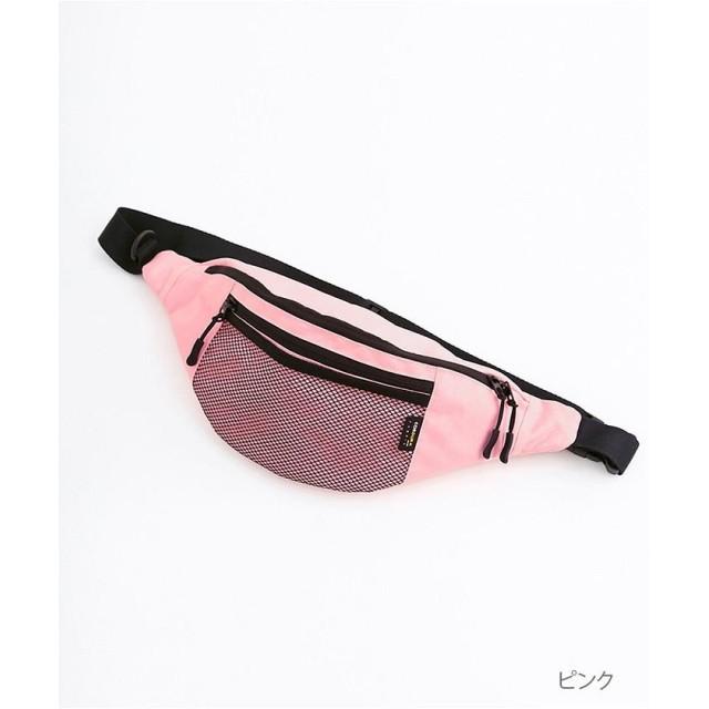 【5%OFF】 メルロー CORDURAメッシュポケットウエストバッグ レディース ピンク FREE 【merlot】 【タイムセール開催中】