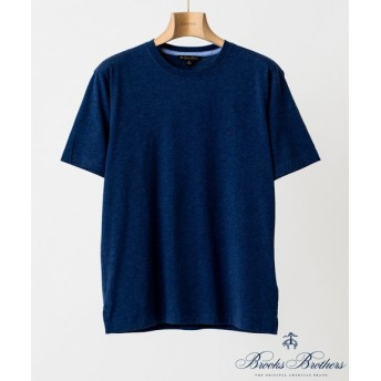 EDIFICE Brooks Brothers KNT SUP CTN GF SS TEE ネイビー XL
