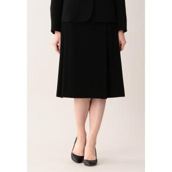 AMACA アマカ 【Sサイズ~】【LADY SKIRT】ミッションダブルフェイスセミフレアースカート その他 スカート,ブラック