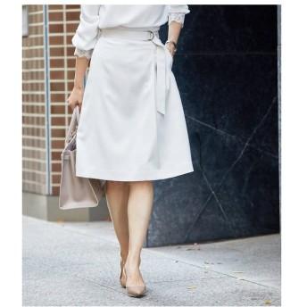 ROPE' / ロペ 【セットアップ対応】【洗える】ボディシェルツイルタックフレアスカート