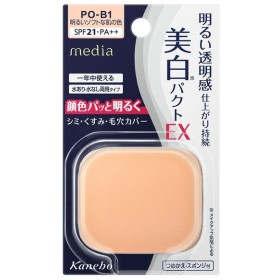 メディア/ホワイトニングパクトEX(リフィル PO−B1明るいソフトな肌の色) ファンデーション