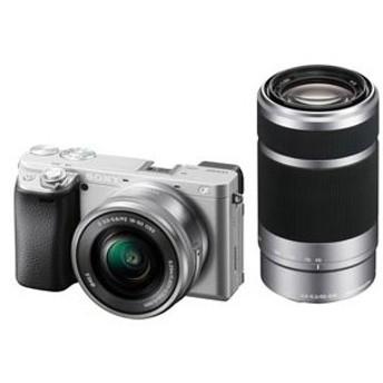 ソニー ミラーレス一眼カメラ「α6400」ダブルズームレンズキット(シルバー) SONY ILCE-6400Y-S 返品種別A