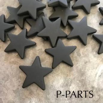 import マット BLACK star 星 ビーズ