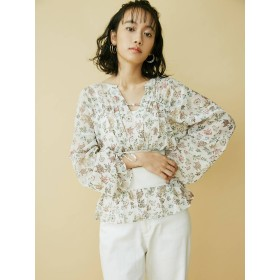 [MURUA]ガーデンフラワーシャツ