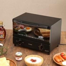 トースター 2枚 アイリスオーヤマ スチームオーブントースター おしゃれ パン焼き器 ブラック KSOT-011-B (572888) 【8月14日~8月19日クーポン使用で5%OFF】