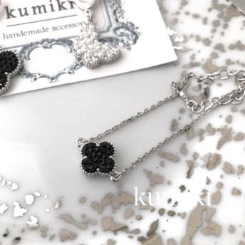 スワロフスキー flower bracelet