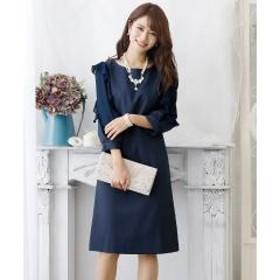 026d520960841  二次会ドレス・女子会対応 フリルカラーワンピース お取り寄せ商品  通販 LINEポイント最大1.0%GET