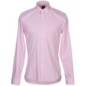 《期間限定 セール開催中》BOTTEGA ARTIGIANA メンズ シャツ ピンク III コットン 97% / ポリウレタン 3%