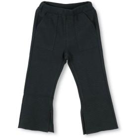 【50%OFF】 ブランシェス ワッフルスリットロングパンツ(90~150cm) レディース ブラック 130cm 【branshes】 【セール開催中】