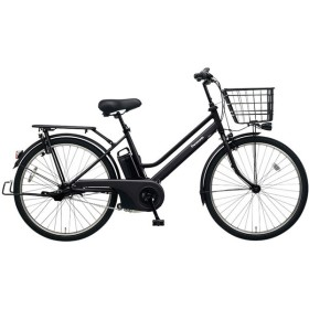PANASONIC BE-ELST634-B2 マットジェットブラック ティモ・S [電動アシスト自転車(26インチ・内装3段変速)] 電動自転車