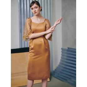[LAGUNAMOON]LADYバタフライスリーブドレス
