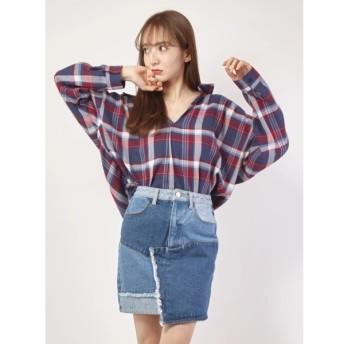 [マルイ]【セール】先染めチェックスキッパーシャツ/セシルマクビー(CECIL McBEE)