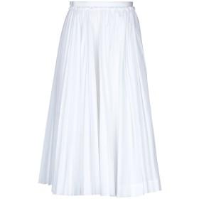 《セール開催中》N°21 レディース 7分丈スカート ホワイト 40 コットン 100%