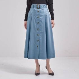スカート レディース 40代 30代 春 ミモレ丈 おしゃれ きれいめ エレガント グレイッシュブルー