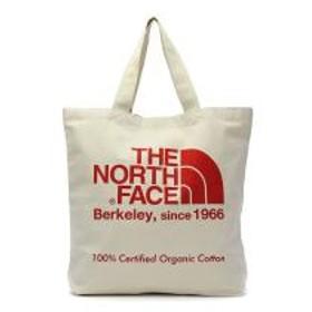 【日本正規品】ザ・ノースフェイス トートバッグ THE NORTH FACE TNF エコバッグ Organic Cotton Tote オーガニックコットントート A4 B4 大きめ 20L 通学 メンズ レディース NM81908 ナチュラルxTNFレッド(T