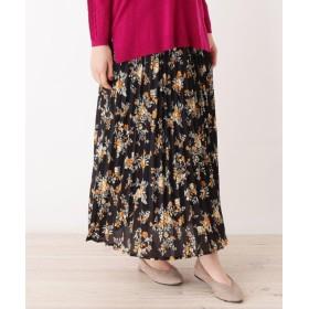 grove(グローブ) 【WEB限定サイズあり】花柄プリーツロングスカート