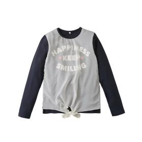 前身シフォン重ねTシャツ(女の子 子供服。ジュニア服) Tシャツ・カットソー
