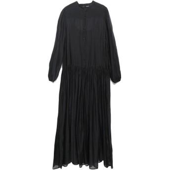 《セール開催中》.TESSA レディース 7分丈ワンピース・ドレス ブラック 42 コットン 70% / シルク 30%