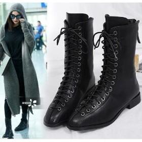 [55555SHOP]韓国ファッション レディース ブーツ コレクション 可愛くて独特なデザインのシューズ特集/美脚/パンプス/靴 ローヒール 歩きやすいショートブーツ♪