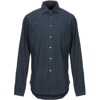 《期間限定セール開催中!》PEUTEREY メンズ シャツ ダークブルー 38 コットン 97% / ポリウレタン 3%