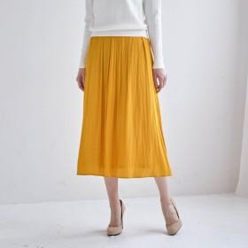 スカート レディース 40代 30代 春 スカート ロング マキシ おしゃれ きれいめ エレガント マリーゴールド